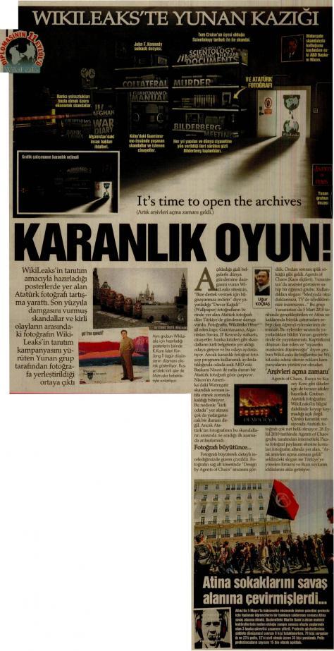 Οι Τούρκοι «μπλέκουν» Έλληνες φοιτητές με το Wikileaks!