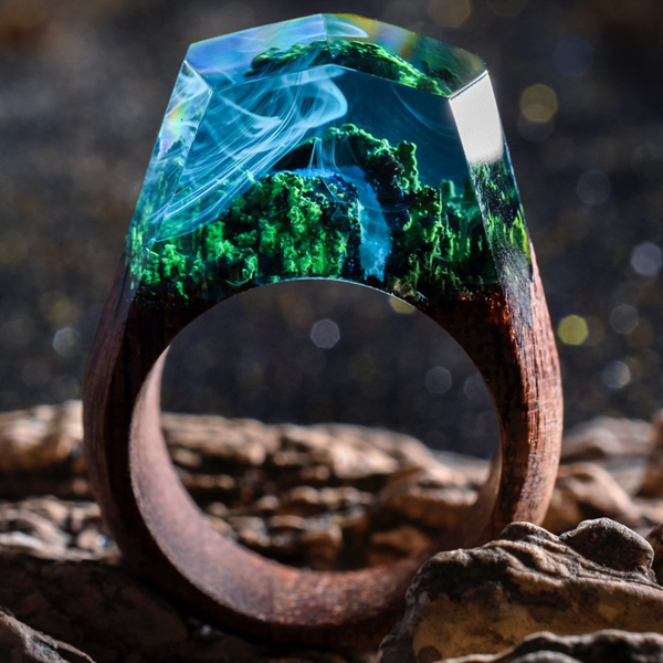 Μικροσκοπικοί κόσμοι μέσα σε ξύλινα δαχτυλίδια
