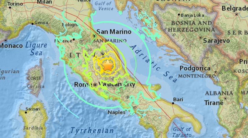 Νέος σεισμός 5,1 Ρίχτερ στην κεντρική Ιταλία