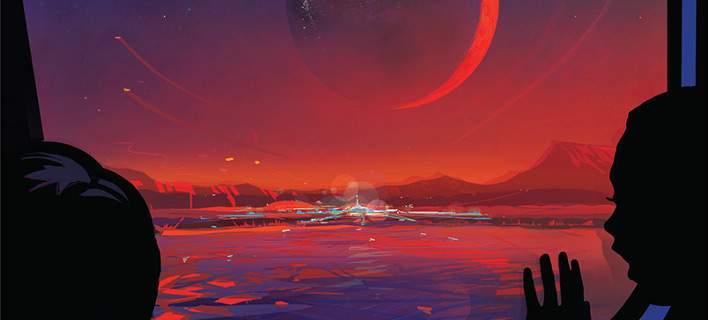 Η NASA έκανε και αφίσα: Ετσι θα μοιάζει το ταξίδι στους πλανήτες που ανακαλύφθηκαν