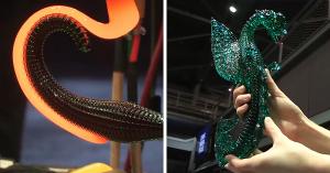 Απίθανο βίντεο – Δημιουργία ενός δράκου από γυαλί