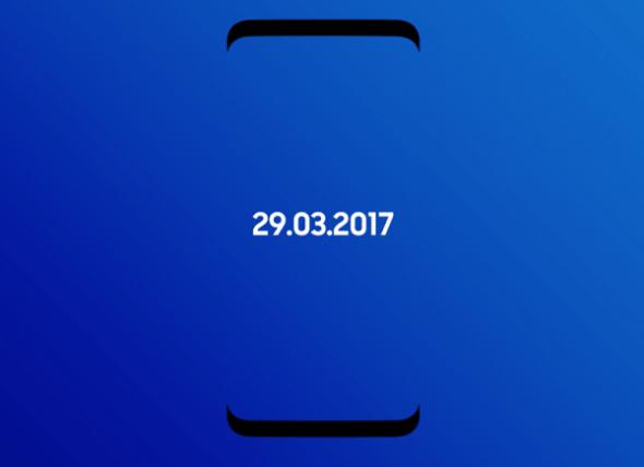 Φωτογραφία απεικονίζει τα Galaxy 8 και Galaxy S8 Plus δίπλα-δίπλα