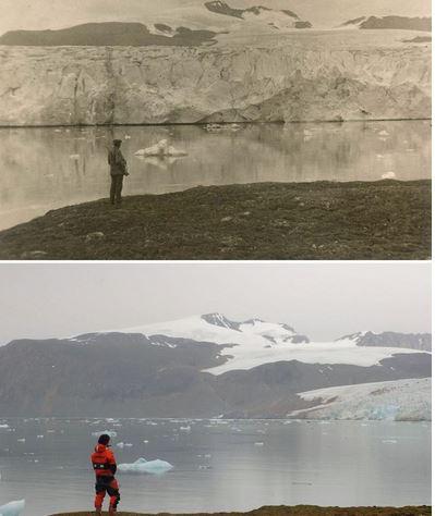 H δραματική αλλαγή των παγετώνων σε 100 χρόνια!