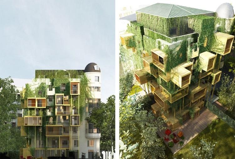 """""""Πράσινοι"""" ξύλινοι κύβοι"""" βελτιώνουν την ενεργειακή απόδοση στα παλιά κτήρια του Παρισιού!"""