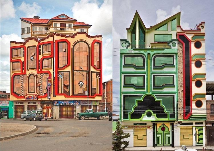 Τα πολύχρωμα κτήρια του El Alto