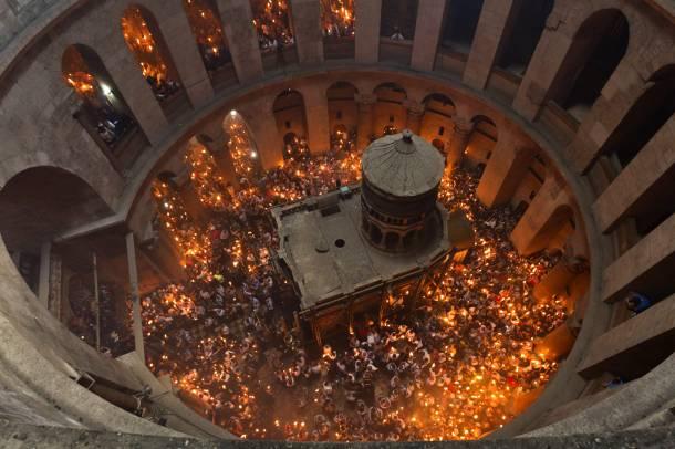 Ιεροσόλυμα: Περιήγηση στον Ναό της Αναστάσεως, που ετοιμάζεται για την κορύφωση των Αγίων Παθών (Video)