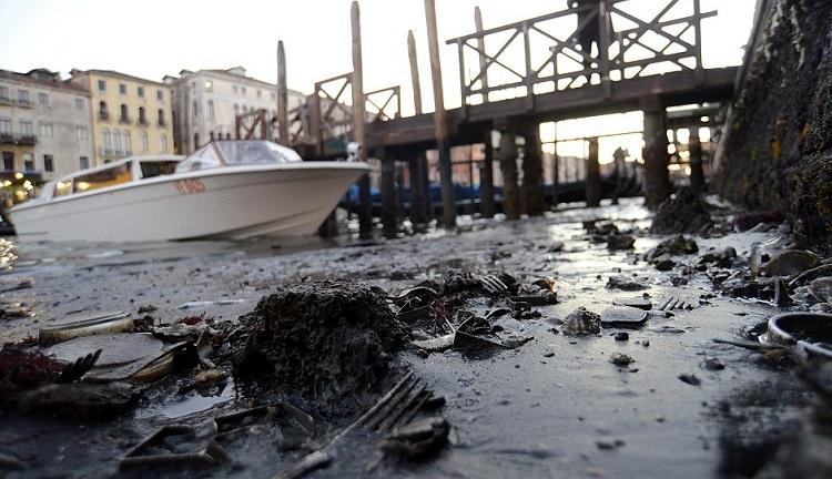 Η Βενετία έχει λιγότερο νερό από ποτέ!