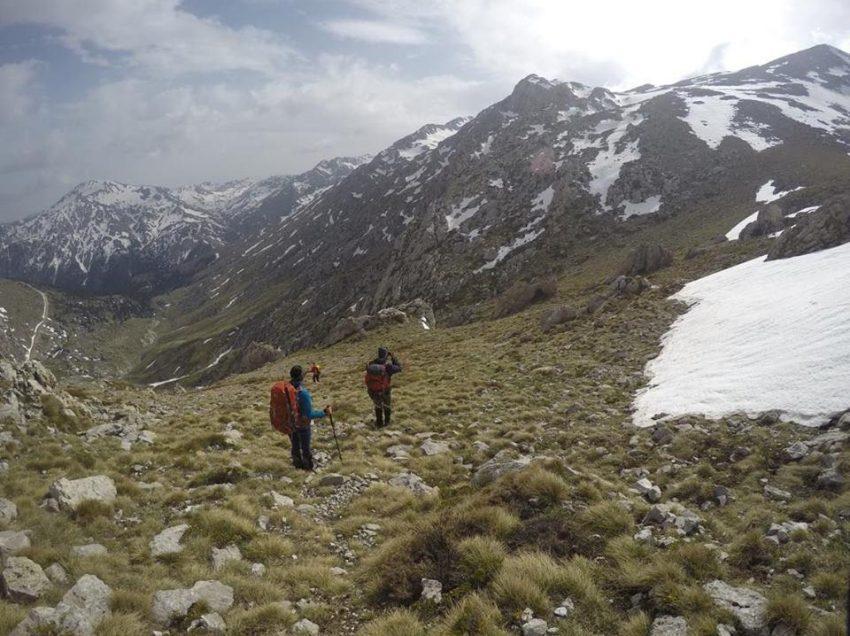 Ο ορειβατικός Ρεθύμνου στην ψηλότερη κορυφή της Γκιώνας