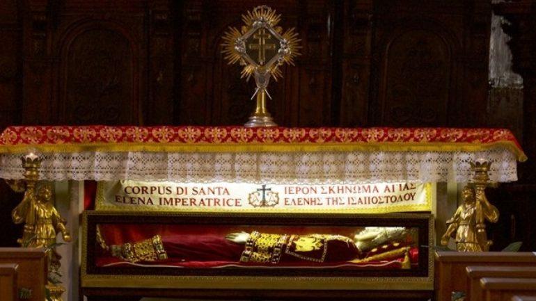 Τα ιερά λείψανα της Αγίας Ισαποστόλου Ελένης μεταφέρονται στην Ελλάδα