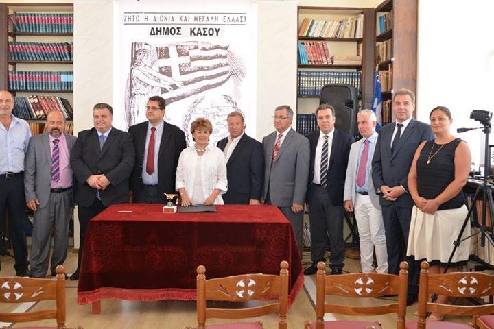 Στην Κάσο για τις επετειακές εκδηλώσεις ο δήμος Ρεθύμνης
