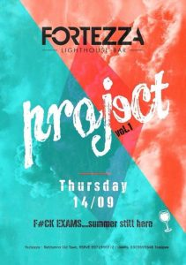 Project party στο στο Fortezza Lighthouse Bar