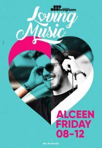 O DJ Alceen στα decks του LivingRoom